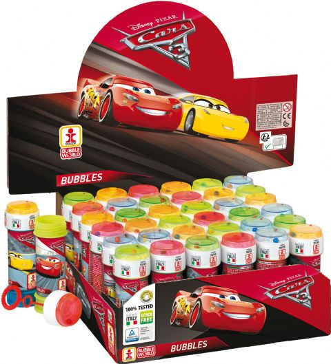 36 x Disney Pixar Cars 3 - Puzzle Maze Tub Bubbles 60ml Wholesale Bulk Buy